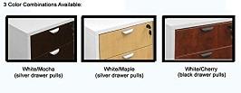 White & Woodgrain U-Shaped Reception Desk 3