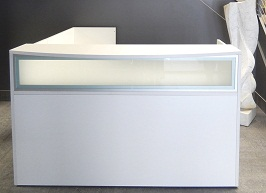 Features of white reception counters