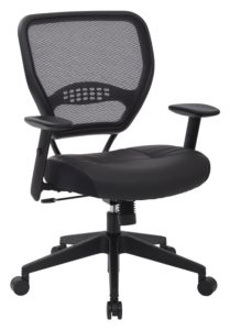 SPACE Seating Professional AirGrid Dark Back and Padded Black Eco Leather Seat, 2-to-1 Synchro Tilt Control, Adjustable - another great choice under 200
